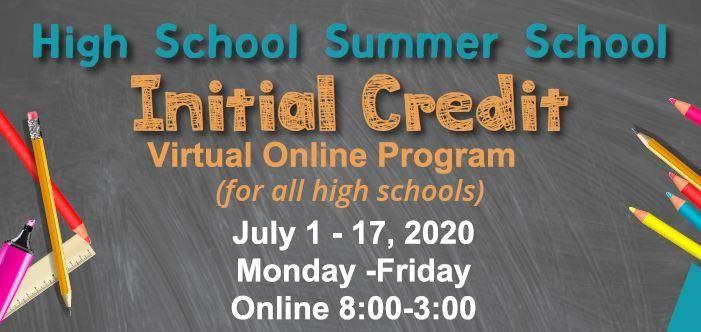 Summer School 2020 Info